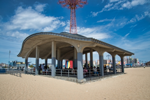 Coney Island Boardwalk Pergolas