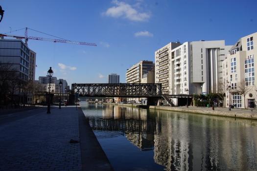 Brücke der Petite Ceinture über den Ourcq-Kanal, Passerelle des Ardennes, Petite Ceinture Ourcq Canal Bridge
