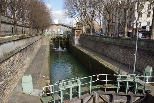 Saint-Martin-Kanal, Schleusen La Villette