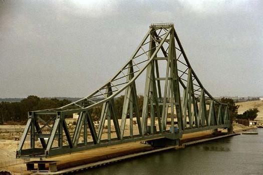El Ferdan Swing Bridge, Suez Canal, Egypt.