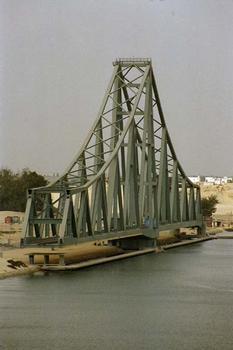El-Ferdan-Drehbrücke, Suezkanal, Ägypten.