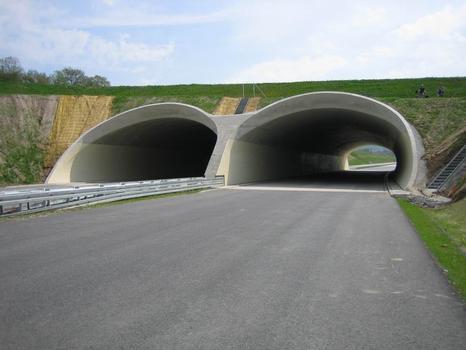 Landschaftsbrücke Meuschaer Höhe, Nordwestportal