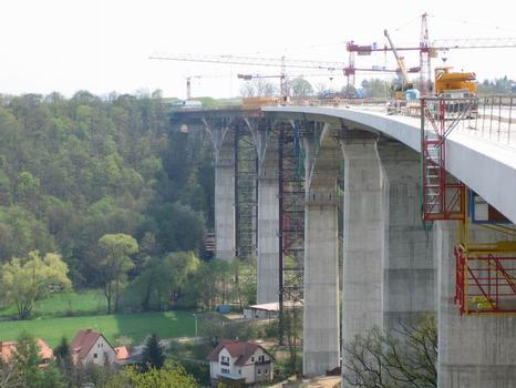 Lockwitztalbrücke, Blick Richtung Südost