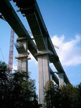 Autobahn A17Lockwitztalbrücke Dresde