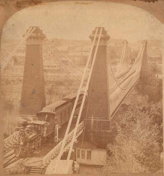 Erie Suspension Bridge (stereo image)