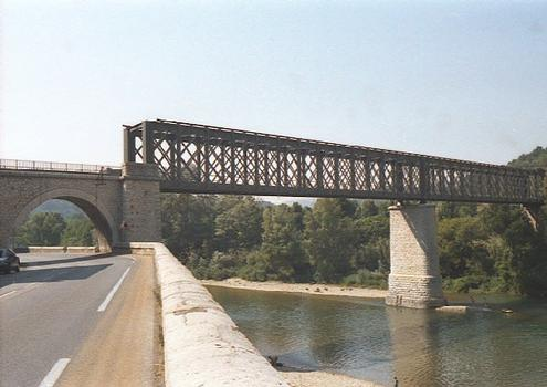 Railroad bridge at Anduze (Gard).