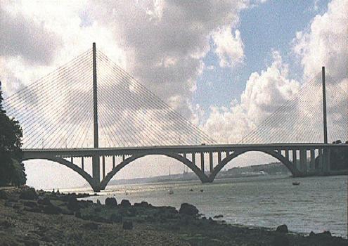 Iroise Bridge and Plougastel Bridge
