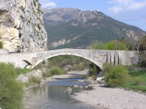Pont du Roc (pont-route), Castellane, Alpes de Haute Provence