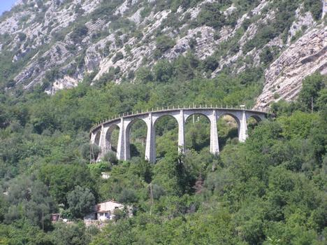 Viaduc de Caramel, Pont rail (hors service), Castillon, Alpes-Maritimes