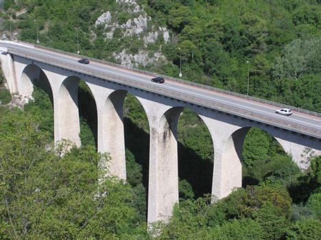 Viaduc de EZE Village (pont autoroutier), Eze, Alpes Maritimes