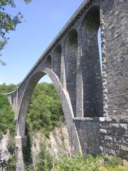 Viaduc de la Roizonne Pont route (ex pont rail) La Mure Isère