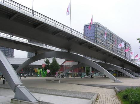 Viaduc Le Corbusier (pont-route), Lille, Nord