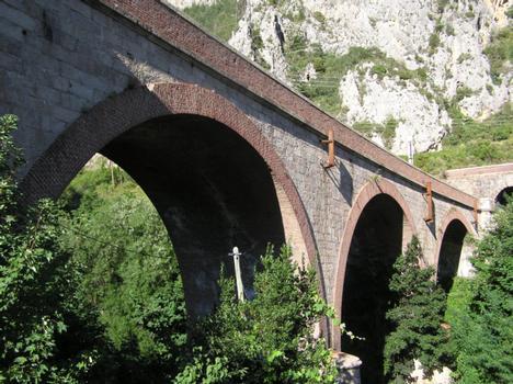 Viaduc de Saint Dalmas de Tende (pont-rail), Alpes Maritimes