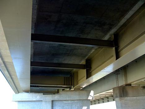 Autoroute A13 Viaduc de Criquebeuf Doublement - Tablier mixte avec entretoises