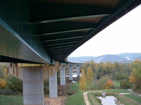 Autoroute A20Viaduc sur la Dordogne