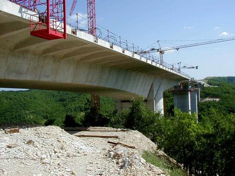 Viaduc de La RauzeVue générale du tablier côté C5