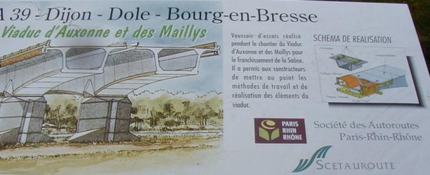 Autoroute A39 Viaduc d'Auxonne et des Maillys