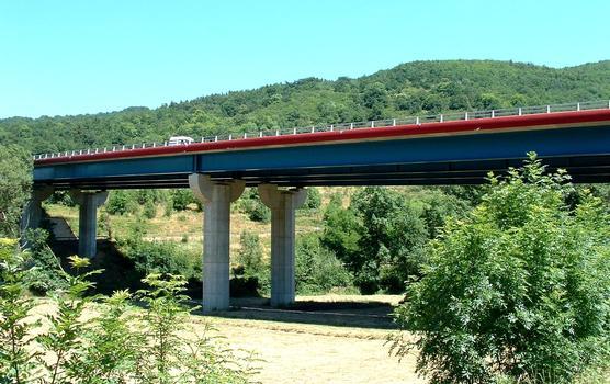 A75 - Viaduc de Massiac sur l'Alagnon - Elévation