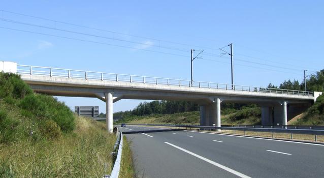 Autoroute A 77 - Eisenbahnbrücke Boismorand