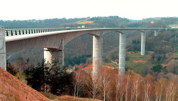 Autoroute A89 - Viaduc de Tulle le soir