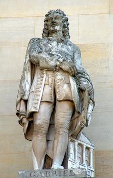 Statue of Ange-Jacques Gabriel, part of the façade of the Louvre