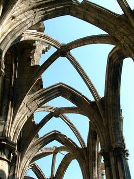 Chiry-Ourscamp - Abbaye Notre-Dame-de-l'Assomption - Vestiges de l'abbatiale - Nervures des voûtes du déambulatoire
