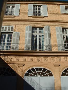 Aix-en-Provence - Hôtel de Boisgelin - Elévation sur la cour
