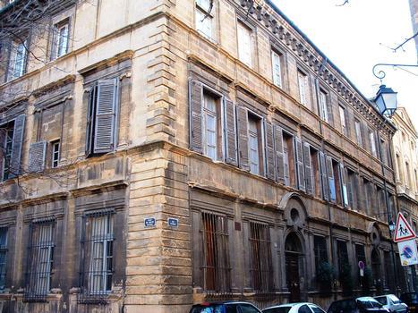 Aix-en-Provence - Hôtel de Gastaud et hôtel Ravel d'Esclapon - 37 et 39 rue Cardinale