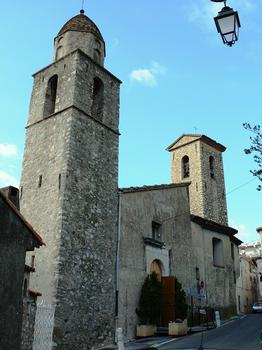 Le Cannet - Eglise Sainte-Catherine et chapelle Saint-Bernardin avec les deux clochers