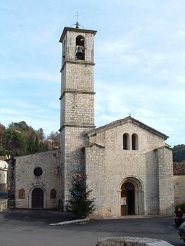 Valbonne - Abbaye Sainte-Marie - Façade occidentale