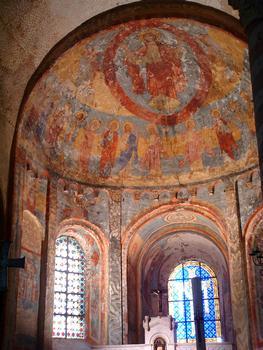 Anzy-le-Duc - Prieuré - Eglise prieurale de la Trinité, de la Sainte-Croix et de Sainte-Marie - Fresque de l'abside
