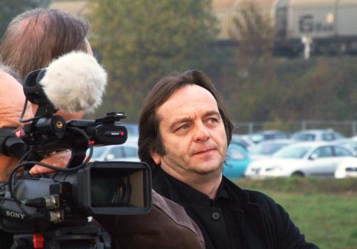 Jean de Gastines le jour de la pose de la première pierre du Centre Pompidou-Metz