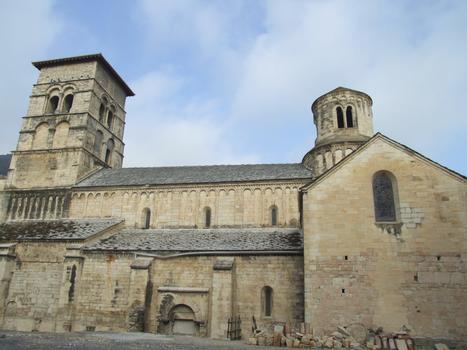 Cruas - Ancienne abbatiale bénédictine Sainte-Marie - Elévation de la nef côté sud