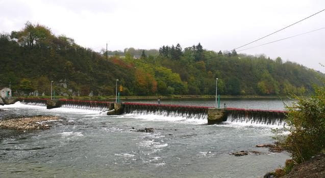 Givet - Barrage à aiguilles des Quatre Cheminées - Vu de l'aval