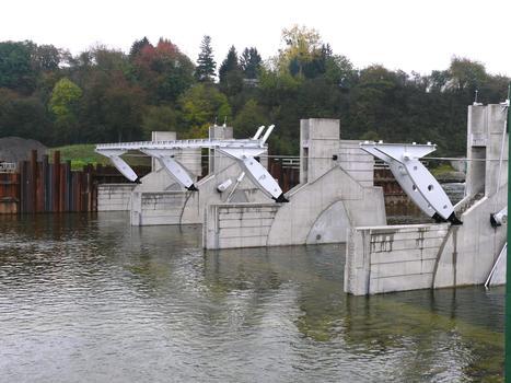 Barrage de Givet (barrage des Quatre Cheminées) - Vu de l'aval