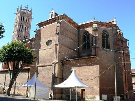 Pamiers - Cathédrale Saint-Antonin (en cours de restauration en 2008) - Vue du chevet