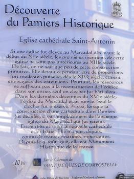 Pamiers - Cathédrale Saint-Antonin (en cours de restauration en 2008) - Panneau d'information