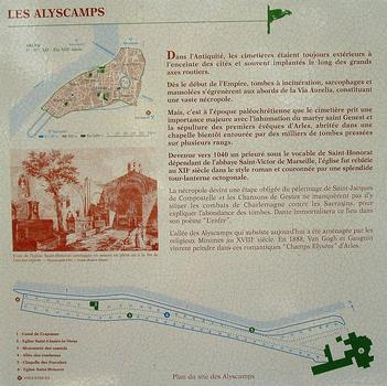 Arles - Eglise Saint-Honorat-des-Alyscamps - Panneau d'information