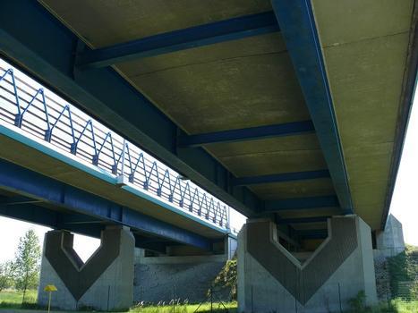 Autoroute A29 - Pont sur le canal de Tancarville - Viaduc d'accès rive gauche