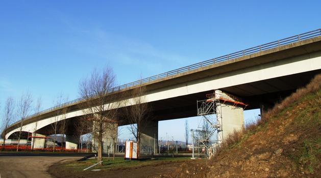 Autoroute A4 - Viaduc de Woippy en cours de renforcement par Demathieu & Bard
