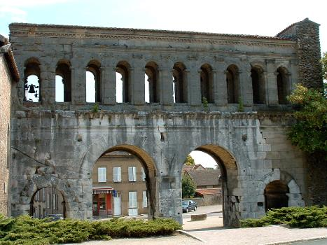Autun - Porte Saint-André - Façade côté ville