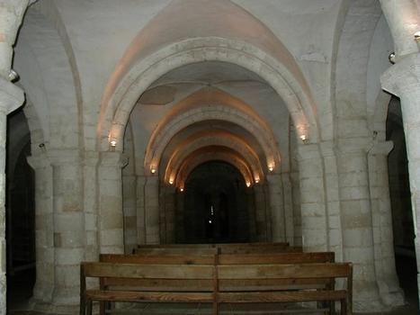 Cathédrale Saint-Etienne à Auxerre.Crypte