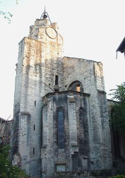Avignon - Couvent des Cordeliers, rue des Lices et rue des Teinturiers - Eglise - Clocher et chapelle absidiale