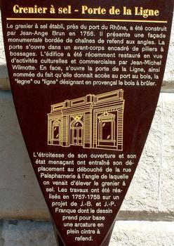 Avignon - Grenier à sel, rue du rempart Saint-Lazare - Panneau d'information