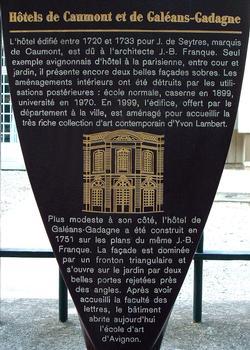 Avignon - Hôtels de Caumont et de Galéans-Gadagne - Panneau d'information