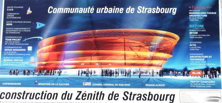 Zénith de Strasbourg - Panneau d'information