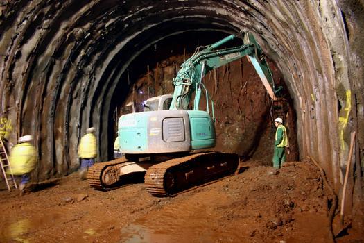 Tunnel de Schirmeck - L'intérieur avant percement du tunnel
