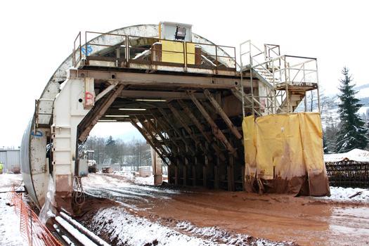 Tunnel de Schirmeck - Outil coffrant pour la voûte du tunnel