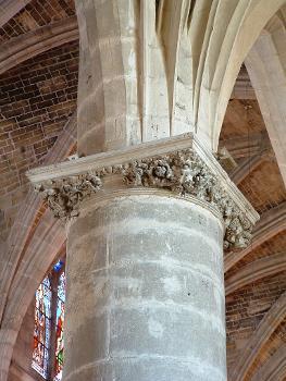 Bazas - Cathédrale - Chapiteau d'une pile de la nef