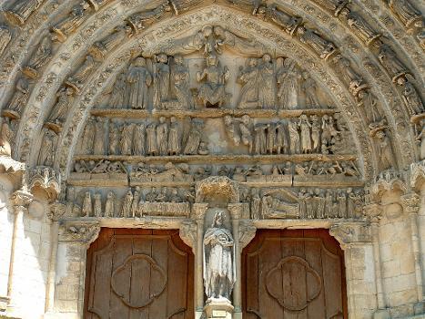 Bazas - Cathédrale - Portail central du jugement dernier